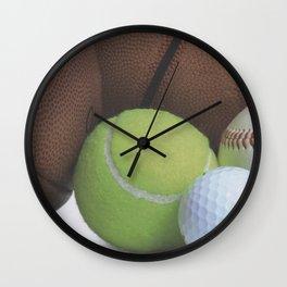 Sports Love Variety of Balls Wall Clock