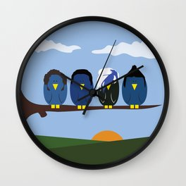 Marianas Trench o' Birds Wall Clock