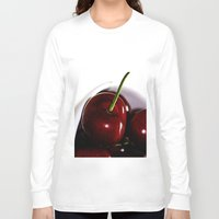 cherry Long Sleeve T-shirts featuring Cherry by LoRo  Art & Pictures