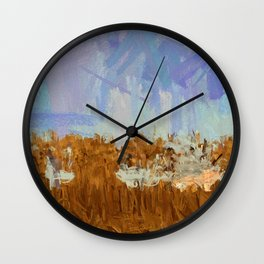 Crop Circles Redux Wall Clock