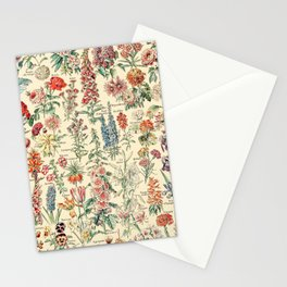 Vintage Floral Drawings // Fleurs by Adolphe Millot XL 19th Century Science Textbook Artwork Stationery Cards