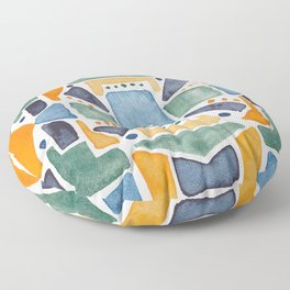 Geometric Watercolor Floor Pillow