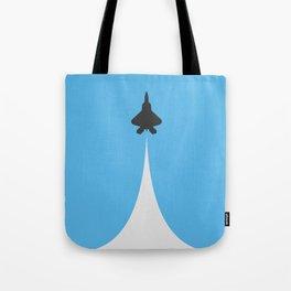 Fighter Jet Ascending - Vector Tote Bag