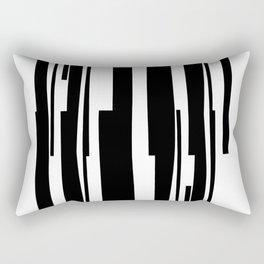 Organic No. 18 Black & White Graphic Art #minimalism #decor #society6 Rectangular Pillow