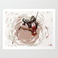 shingeki no kyojin Art Prints featuring Flügel der Freiheit - Shingeki no Kyojin by Munkel