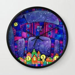 Magic cats Wall Clock
