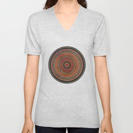 Earth Tone Colored Mandala Unisex V-Neck