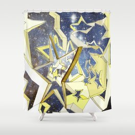 A Very Starry Night Shower Curtain