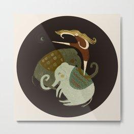 Elephant Walker Metal Print
