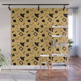 Magic symbols (yellow) Wall Mural