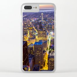 Downtown Seattle Clear iPhone Case