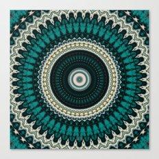 Mandala Fractal in Teal Study 01 Canvas Print