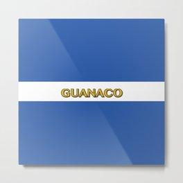 Guanaco - El Salvador Flag Metal Print
