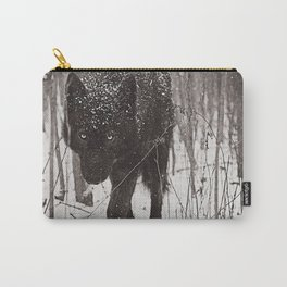 Snow Wolf Carry-All Pouch