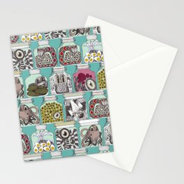 weird pickles blue Stationery Cards