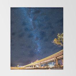 Milky Way Bridge Throw Blanket