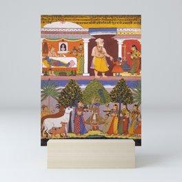 Scenes from the Childhood Krishna, from a Sur Sagar Manuscript Mini Art Print
