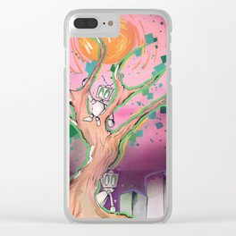 Digital Leaves Clear iPhone Case