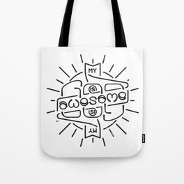 God is Awesome Ambigram Tote Bag