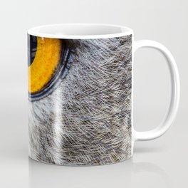 NIGHT OWL - EYE - CLOSE UP PHOTOGRAPHY - ANIMALS - NATURE Coffee Mug