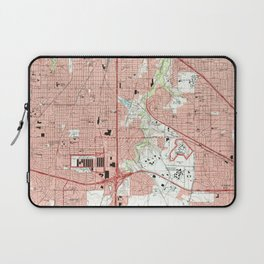 Fort Worth Texas Map (1995) Laptop Sleeve