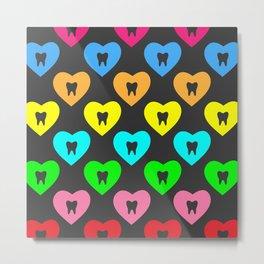 Enamel Heart 2 Metal Print