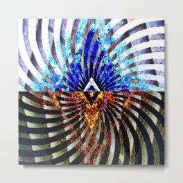 Prismatic Collide Metal Print