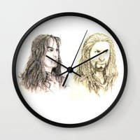 fili Wall Clocks featuring Kili and Fili by Zalazny