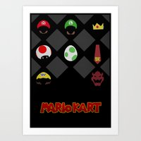 mario kart Art Prints featuring Mario Kart by Jynxit