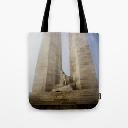 Towers in the mist Tote Bag