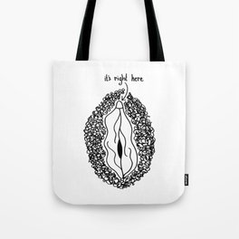 it's right here Tote Bag