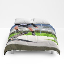 Missed Opportunity  - Skateboarder Comforters