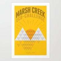 Marsh Creek Eco-Challenge 2015; Shirt Art Art Print