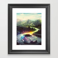 Superhighway Framed Art Print