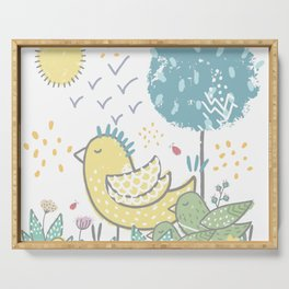 For the Birds Serving Tray