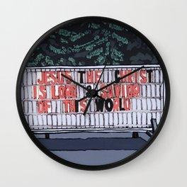 Jesus The Christ Wall Clock