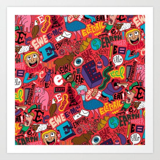 E Pattern Art Print
