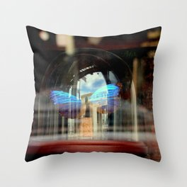 The Bell Jar Butterfly Throw Pillow