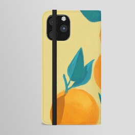Oranges on yellow iPhone Wallet Case