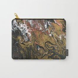 Golden Seas 2, abstract poured acrylic Carry-All Pouch