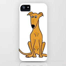 Funny Artistic Greyhound Dog iPhone Case