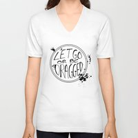 let it go V-neck T-shirts featuring Let Go by Emily Brand