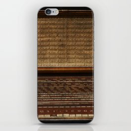 Vintage Photography of Wooden Tube Radio iPhone Skin