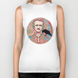 Literary Pop Culture, Edgar Allan Poe Biker Tank
