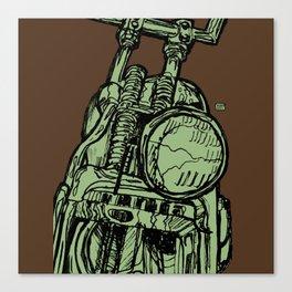 MOTORCYCLE HEADLIGHT Canvas Print