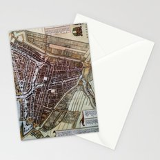 Replica city map of Rotterdam 1652 Stationery Cards