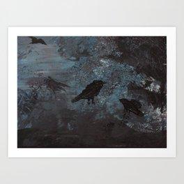 Distorted Caw Art Print