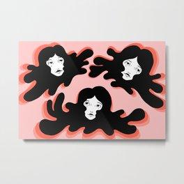 Inky Girls Metal Print