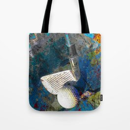 Golf art print work 9 Tote Bag