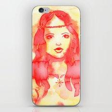 Hippy Girl in the Sun iPhone & iPod Skin